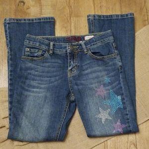 Like new Children's Place rhinestone star jeans 12